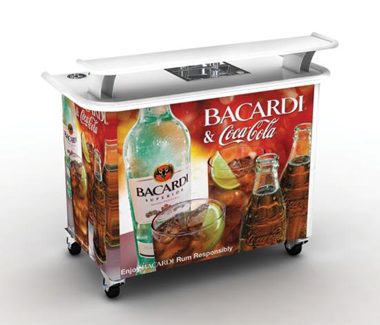 Portable Bar Design amp Build Kiosks Bottle Display